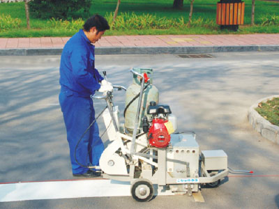 DY-SPTP Self-propelled Thermoplastic Screeding Pedestrian Road Marking Machine