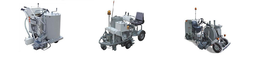 self-propelled road marking machines